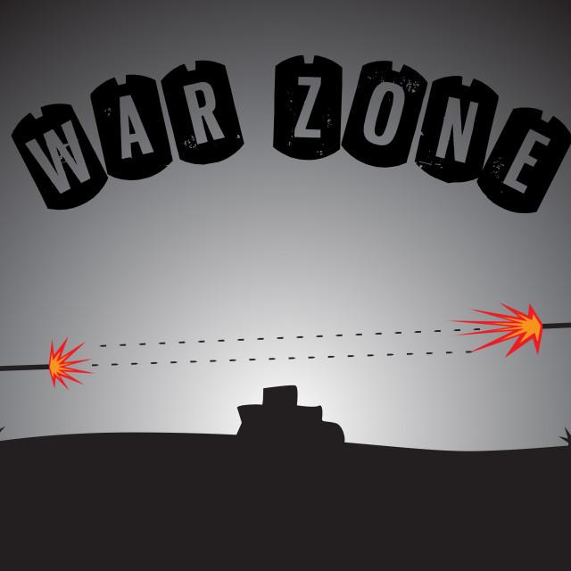 """War Zone"" stock image"