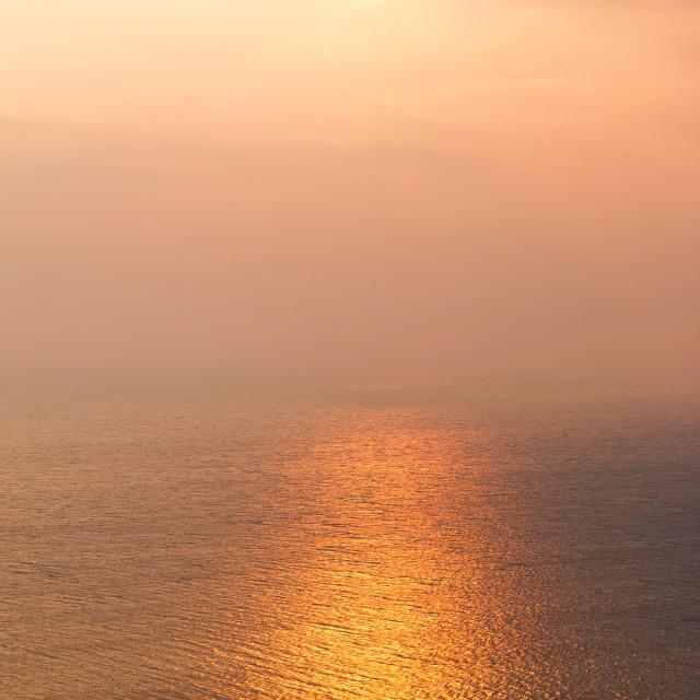 """""""Beautiful sunset light"""" stock image"""