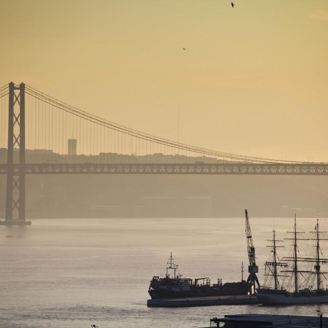 """Lisbon, 25th bridge"" stock image"
