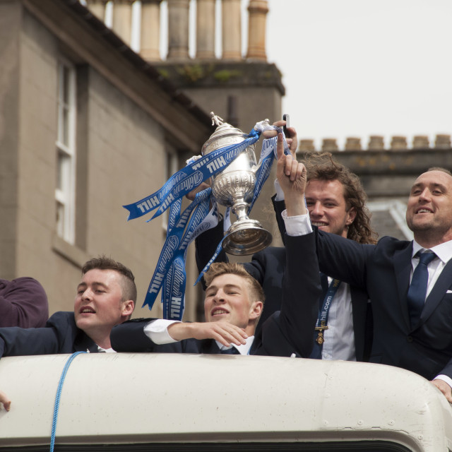 """""""St Johnstone SFA Cup Victory"""" stock image"""