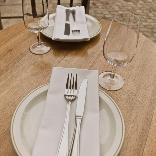 """Restaurant for Lunch"" stock image"