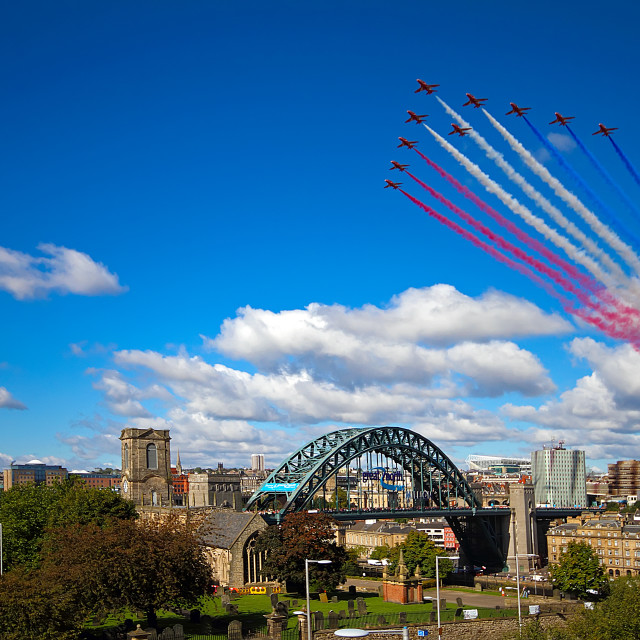 """10 Red Arrows"" stock image"