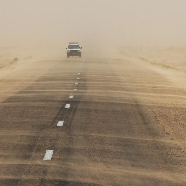"""Sahara Sandstorm"" stock image"
