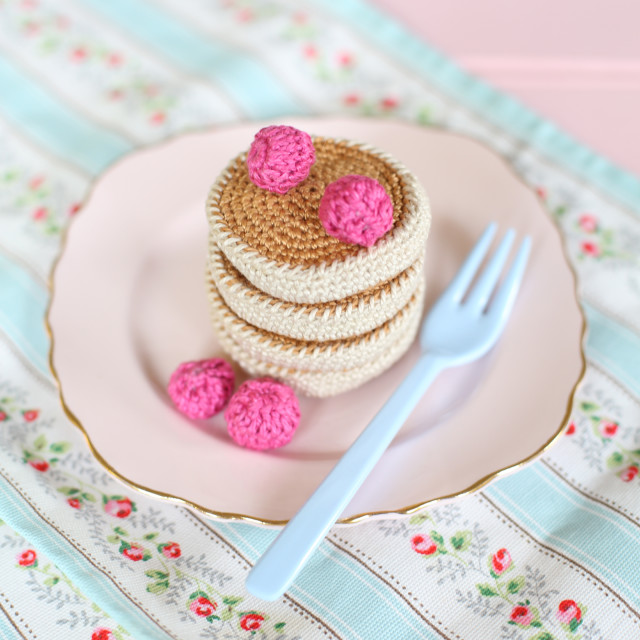 """A Batch of Crochet Pancakes"" stock image"