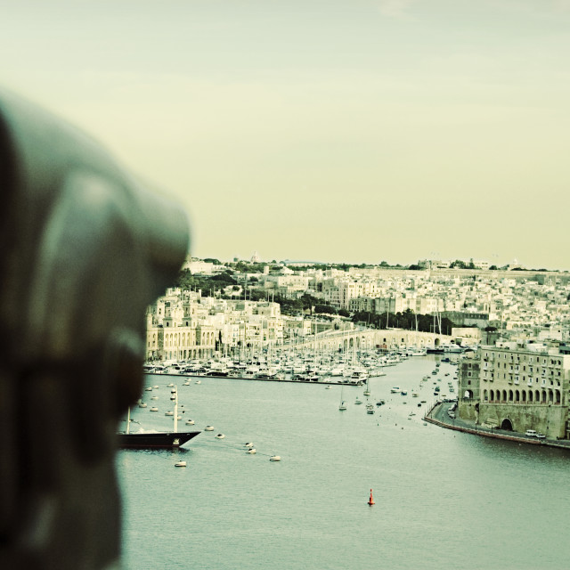 """Malta. La Valetta, views of Sliema and the Mediterranean"" stock image"