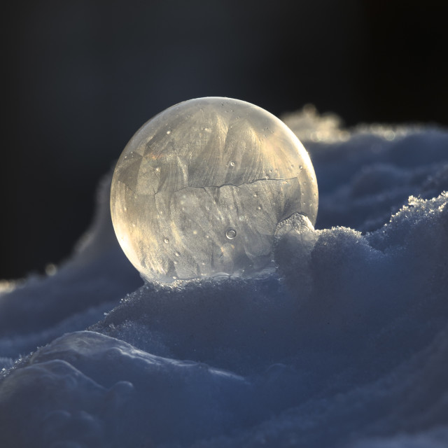 """Frozen bubble"" stock image"