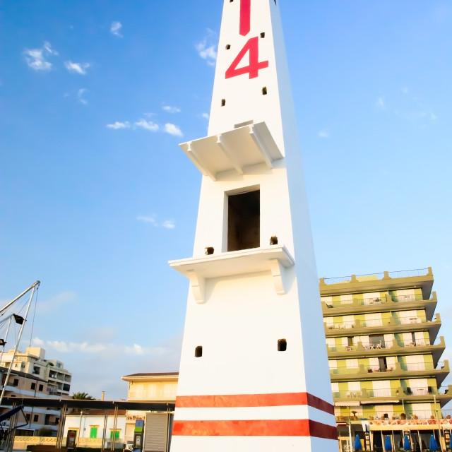 """Obelisk tower Can Picafort"" stock image"