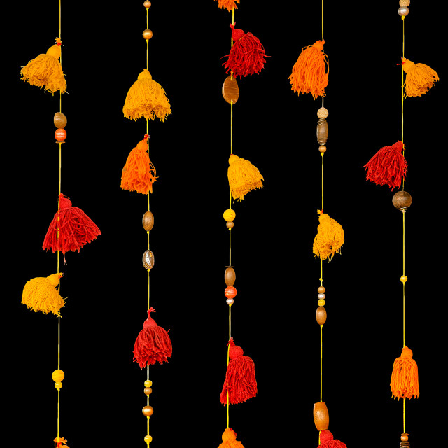 """Colorful window tassels"" stock image"
