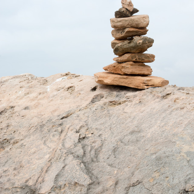 """Little tower of rocks"" stock image"