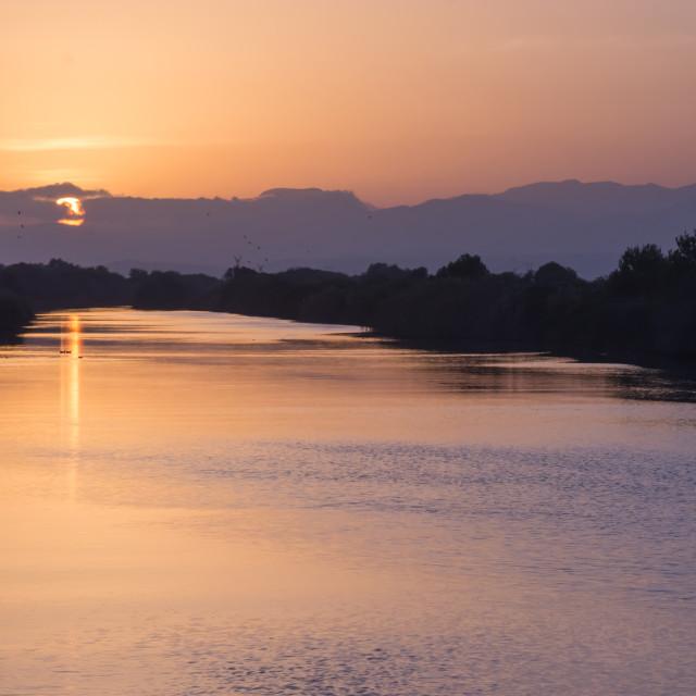 """""""Sunset Albufeira"""" stock image"""