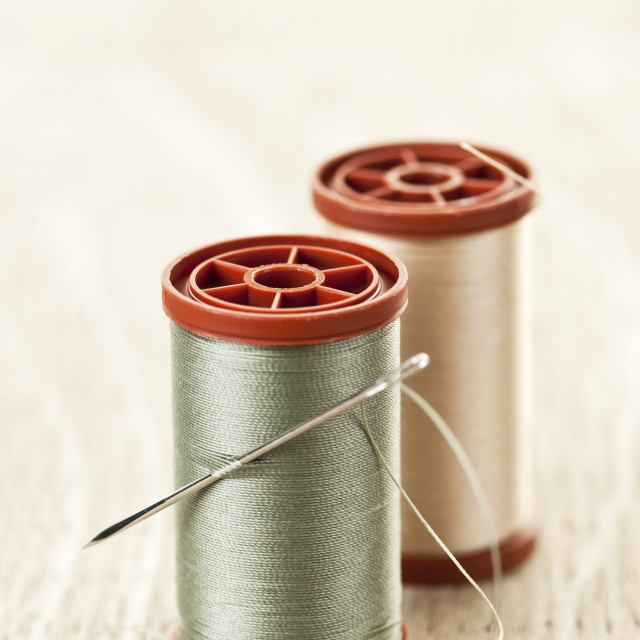 """Thread and needle"" stock image"
