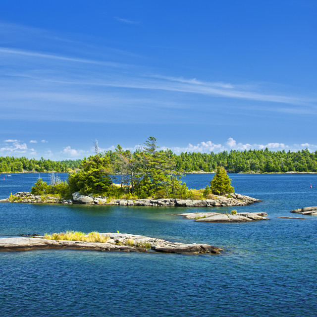 """Islands in Georgian Bay"" stock image"