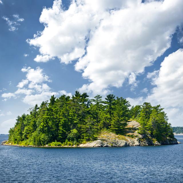 """""""Island in Georgian Bay"""" stock image"""