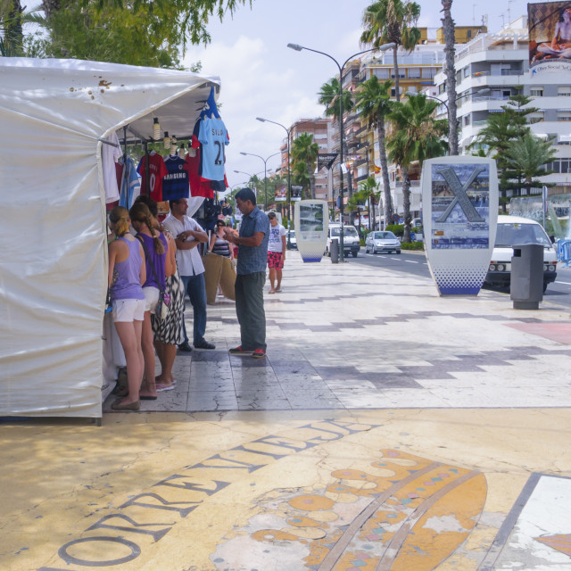 """""""Market booth and Torrevieja symbol"""" stock image"""
