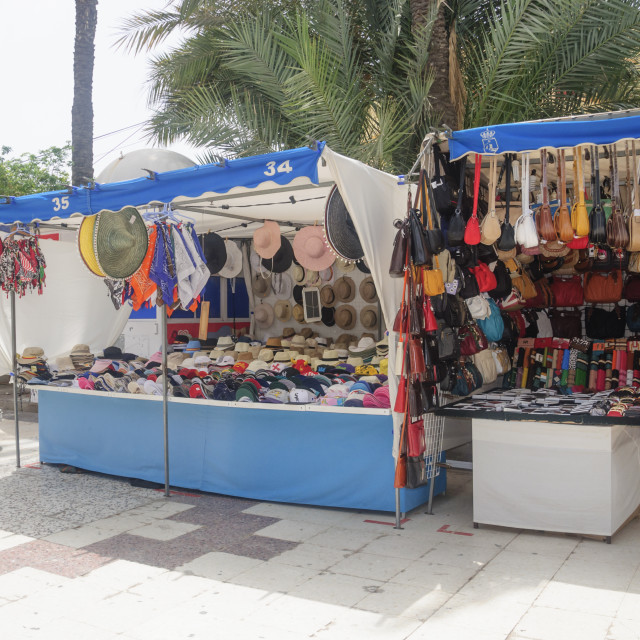 """Market stalls in Torrevieja"" stock image"