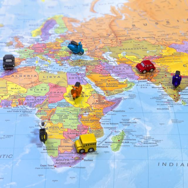 """""""World map, Travel"""" stock image"""