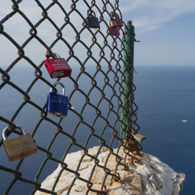 """Padlocks on Formentor"" stock image"