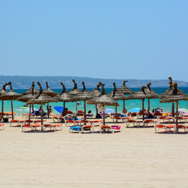 """Mallorca summer beach"" stock image"