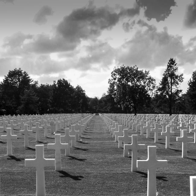 """Omaha Beach American Cemetery"" stock image"
