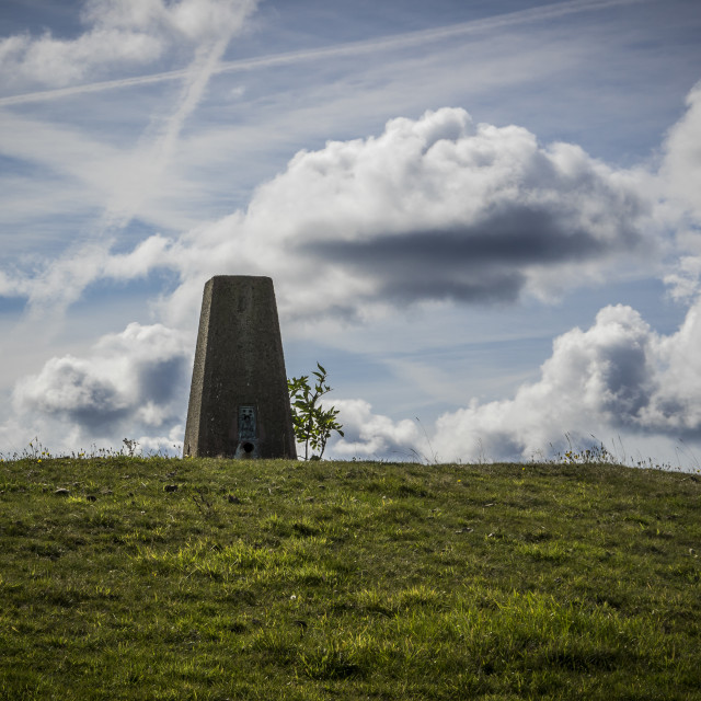 """""""Harthill Trig Point"""" stock image"""