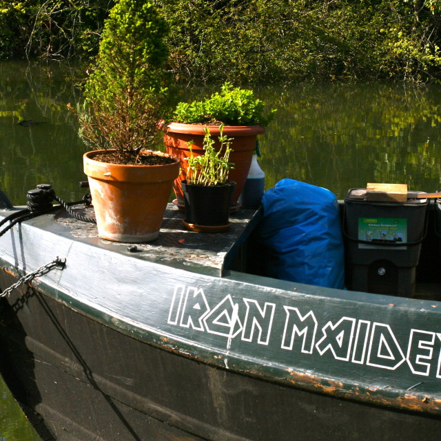 """""""Iron Maiden - The Houseboat"""" stock image"""