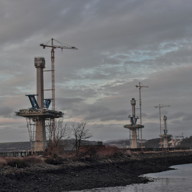 """""""The Queensferry Crossing"""" stock image"""