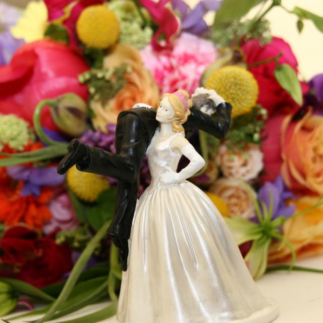 """Wedding Cake Figurine"" stock image"