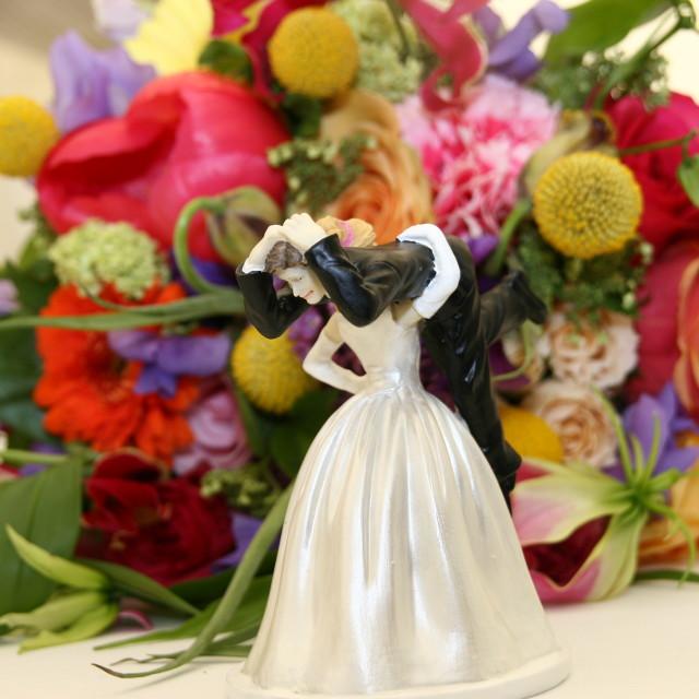 """""""Wedding Cake Figurine II"""" stock image"""