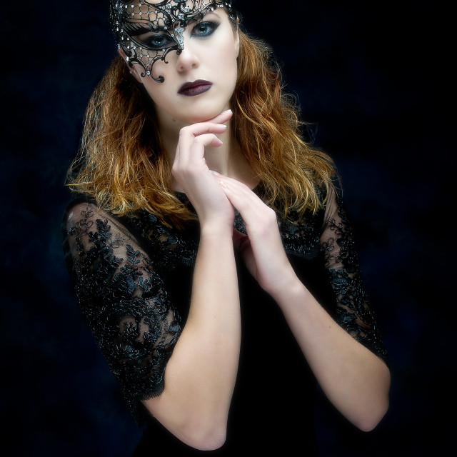 """Emma in mask"" stock image"