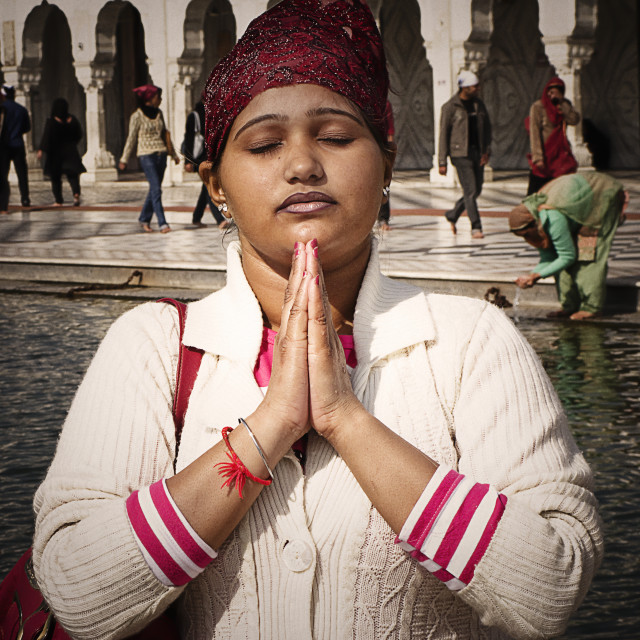 """Woman from golden temple"" stock image"