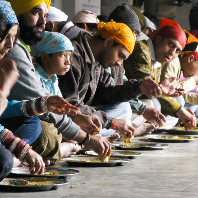 """""""Eating at the golden temple"""" stock image"""