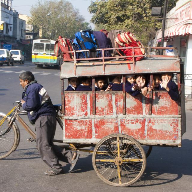 """New Delhi School bus"" stock image"