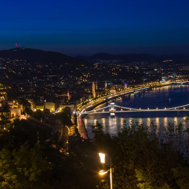 """Budapest night view"" stock image"