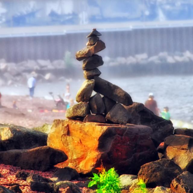 """Cairn Stones"" stock image"