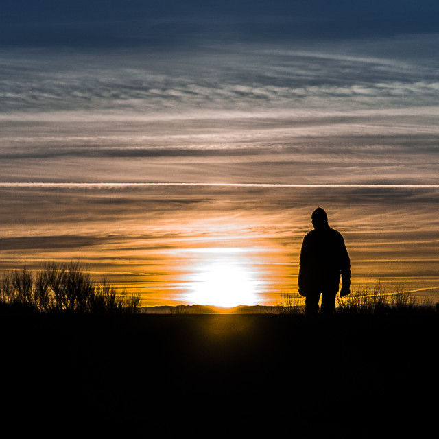 """Sunset silhouette"" stock image"