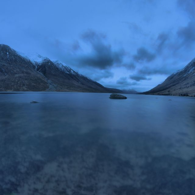 """Twilight at Loch Etive"" stock image"