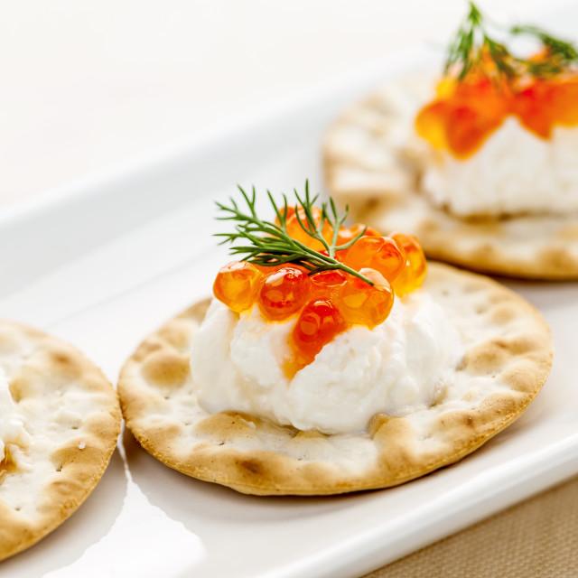 """""""Caviar appetizers"""" stock image"""