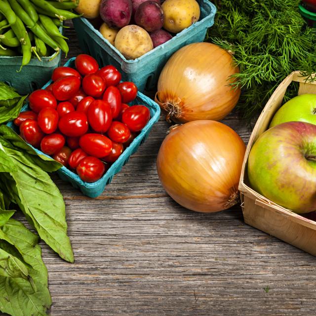 """Fresh market fruits and vegetables"" stock image"