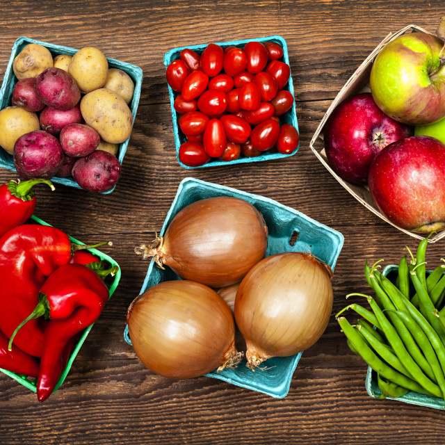 """""""Market fruits and vegetables"""" stock image"""