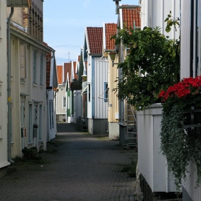 """Typical swedish street"" stock image"