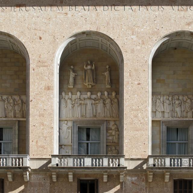"""""""Santa Maria de Montserrat, portal"""" stock image"""