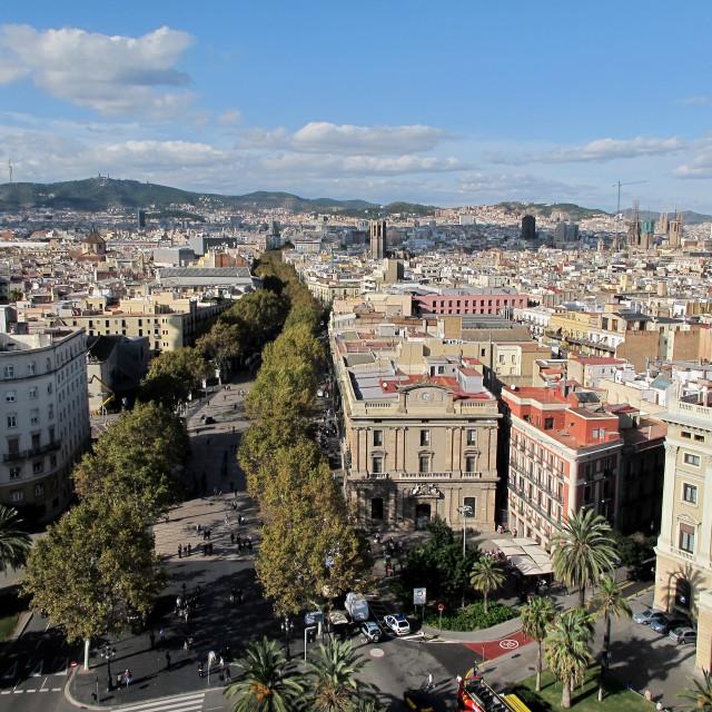 """La Rambla in Barcelona"" stock image"