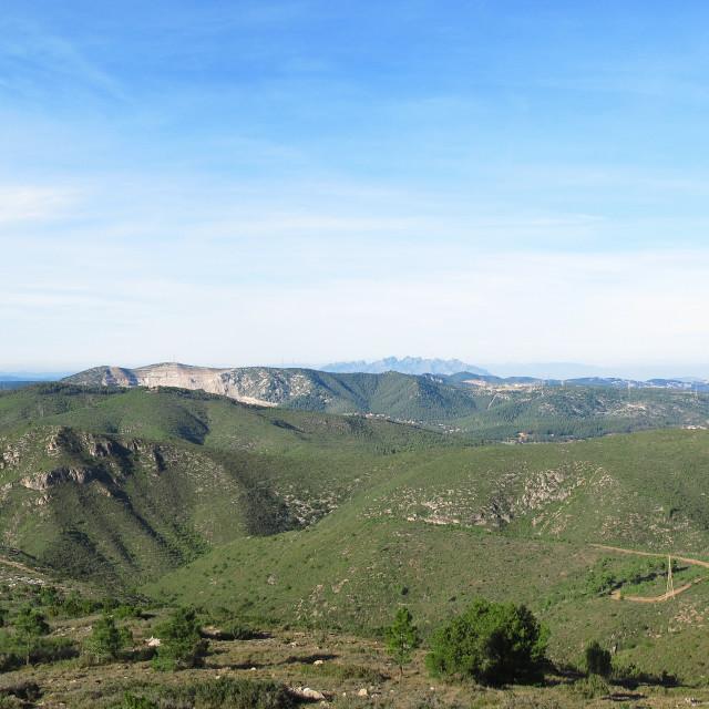 """""""Panorama mediterranean mountains"""" stock image"""