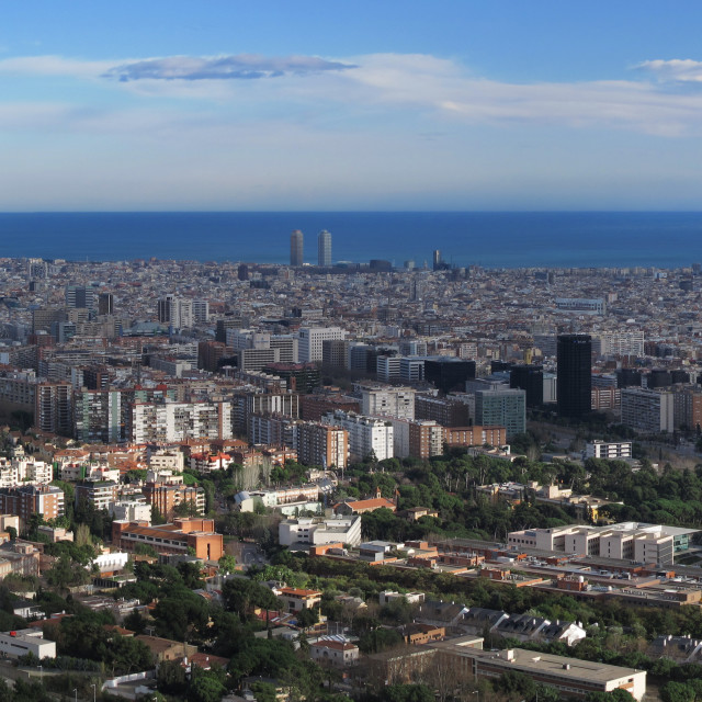 """""""Barcelona panoramic view of the city"""" stock image"""