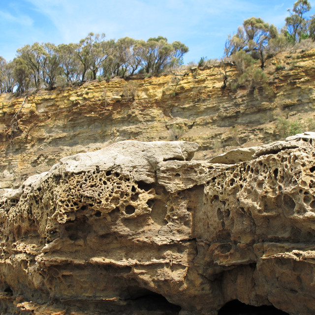 """""""cliffs and weathered sandstone"""" stock image"""