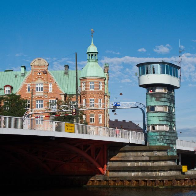 """Knippelsbro, Knippel Bridge, bascule bridge"" stock image"