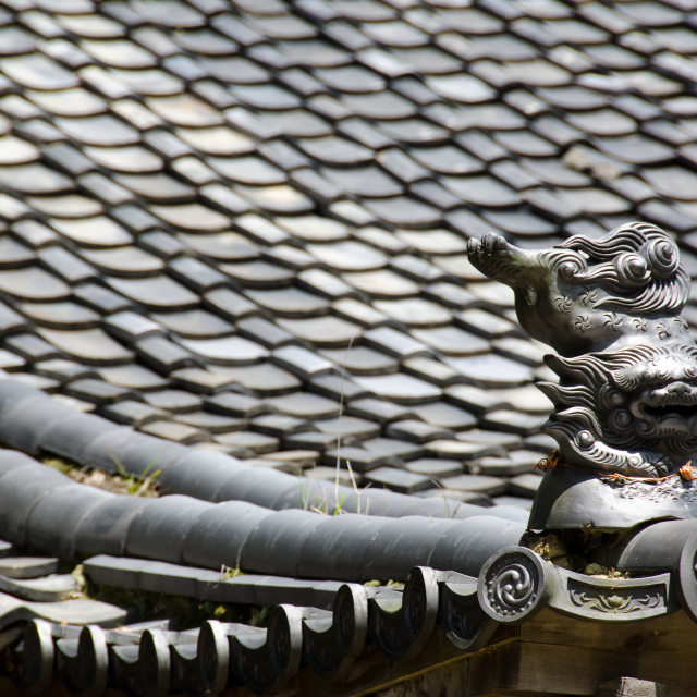 """Roof of a japanese temple"" stock image"
