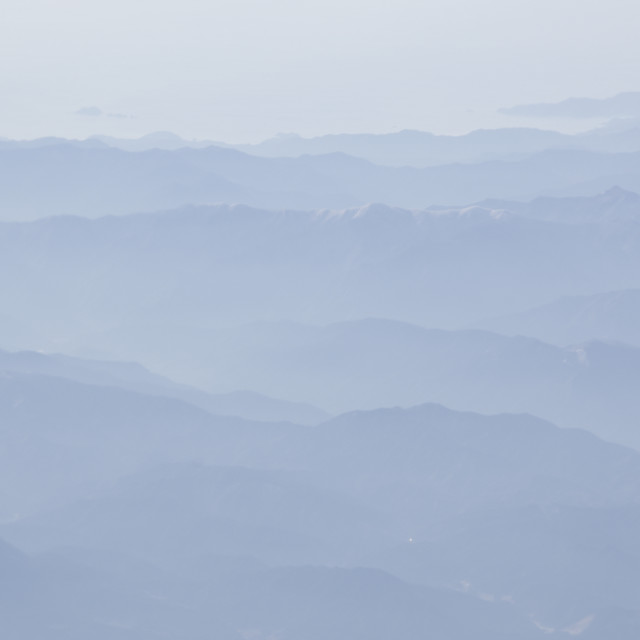 """""""Mountains with fog"""" stock image"""