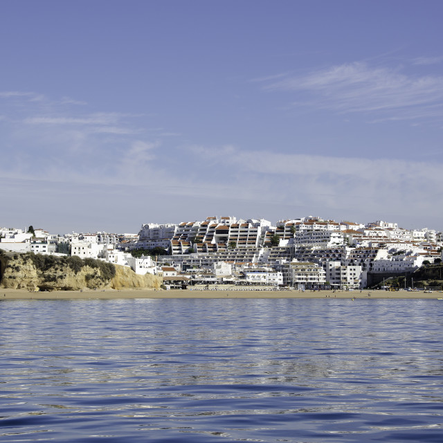 """Panorama of Albufeira in Portugal"" stock image"