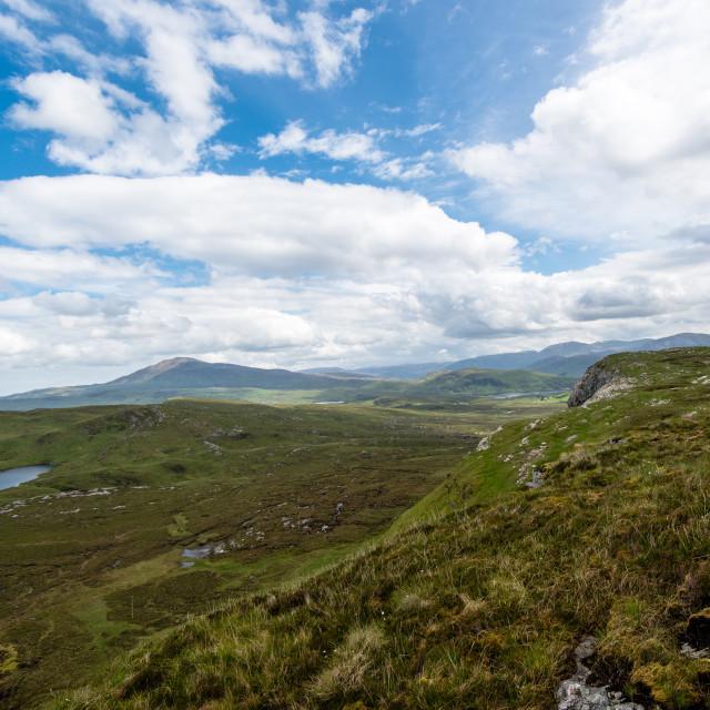 """Knockan Crag in Scotland"" stock image"